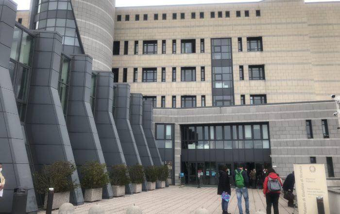 Processo Pfas palazzo di giustizia Vicenza